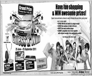 Wangsa Walk Mall 'Guess & Win' Contest