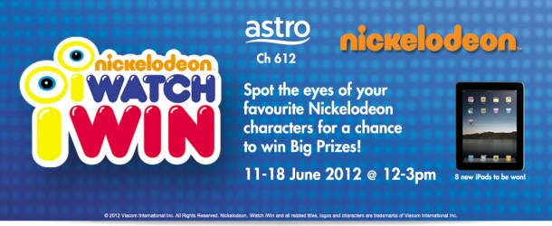 Astro Nickelodeon June IWatch IWin Contest