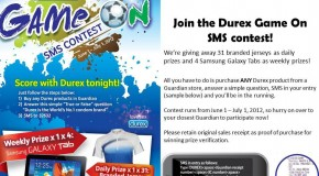 DUREX Game On SMS Contest