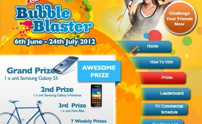 F&N BUBBLE BLASTER APP CONTEST