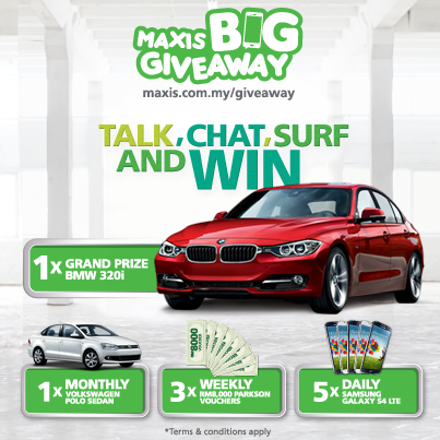 Maxis Big Giveaway Contest - eMenang