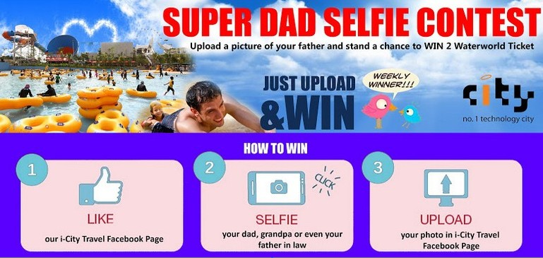super dad selfie