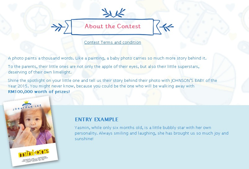 about johson baby contest
