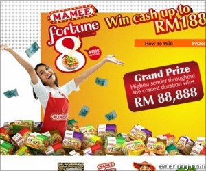 Mamee 'Fortune 8' SMS Contest