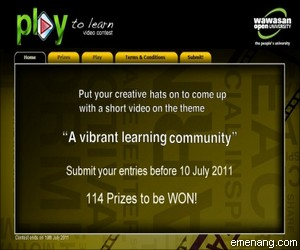 Wawasan Open University 'Play to learn video' Contest