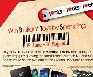 Berjaya Times Square Mega Sales Contest 'Win Brilliant Toys by Spending'