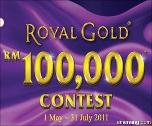 Royal Gold 'RM100,000' Contest